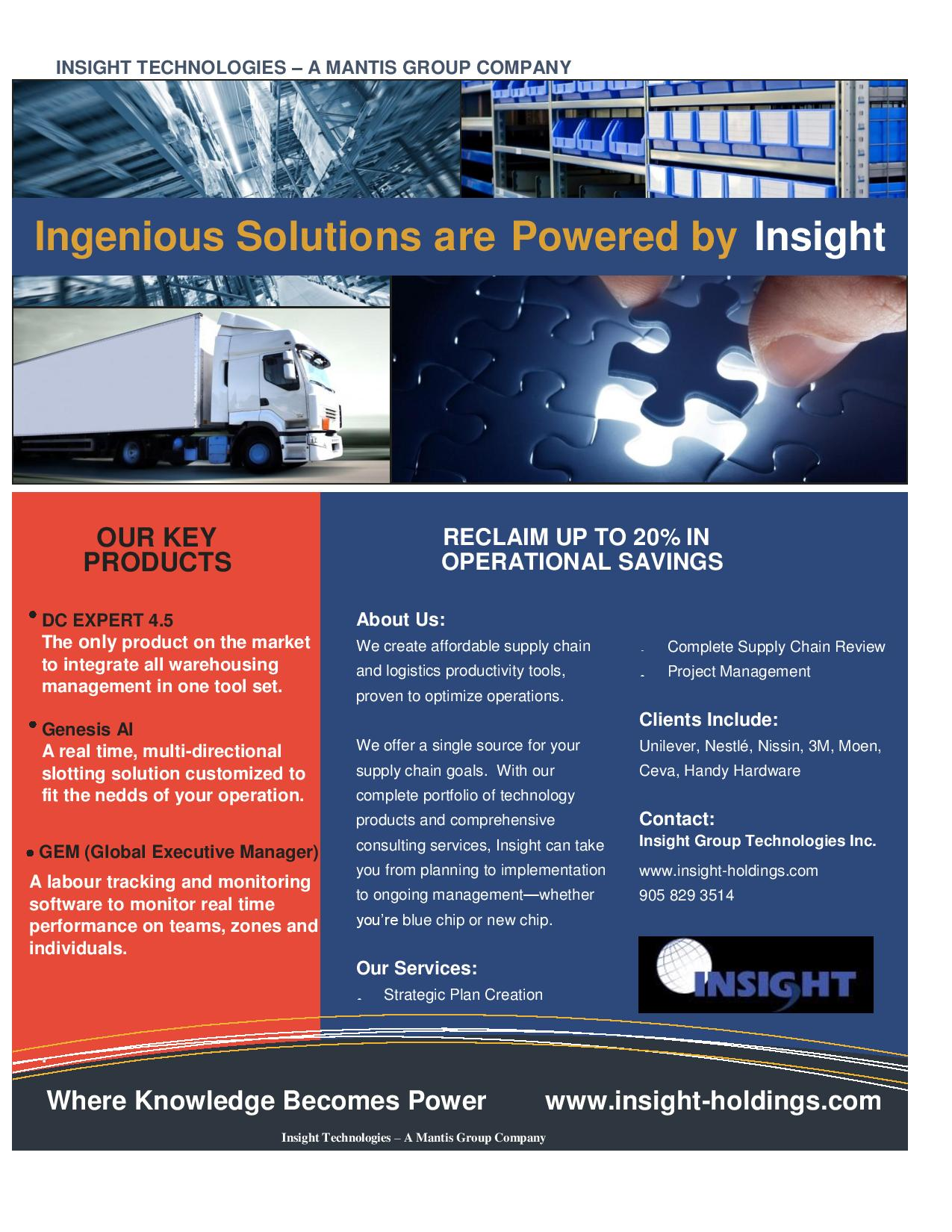 Insight Group Flyer